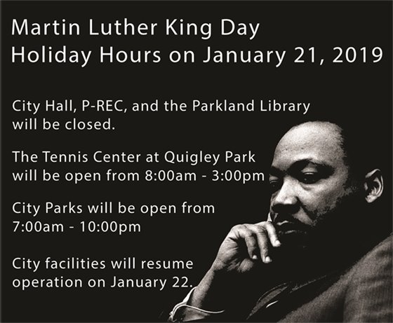 MLK Holiday Hours