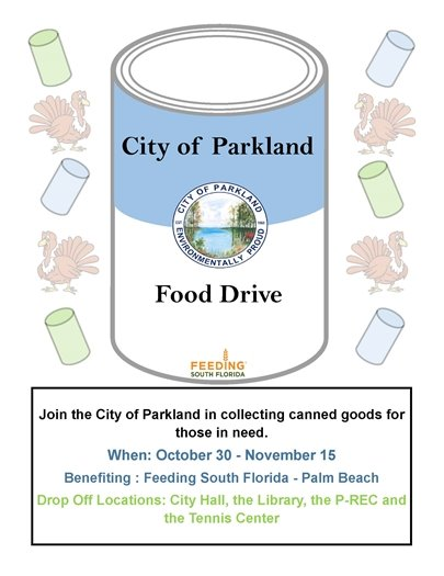 City of Parkland Food Drive