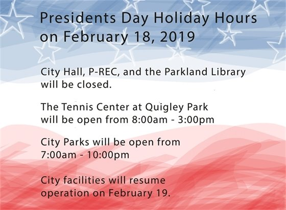 Presidents Day Hours