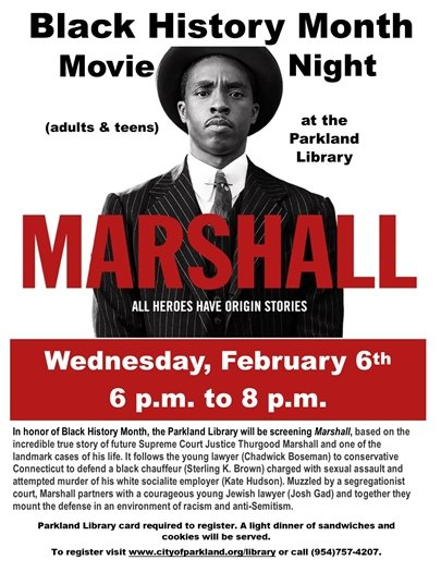 Black History Month at the Parkland Library