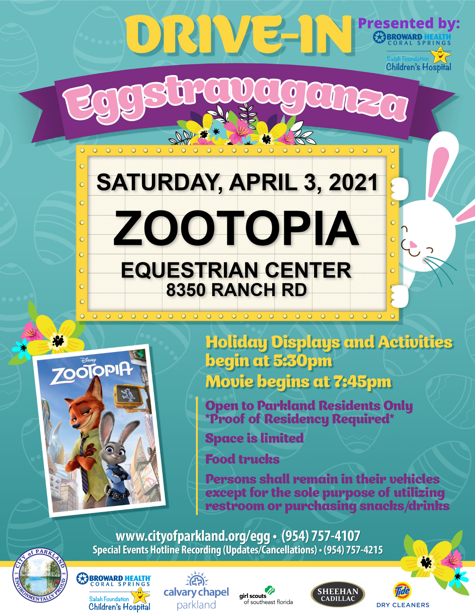 Drive-In Eggstravaganza Flyer