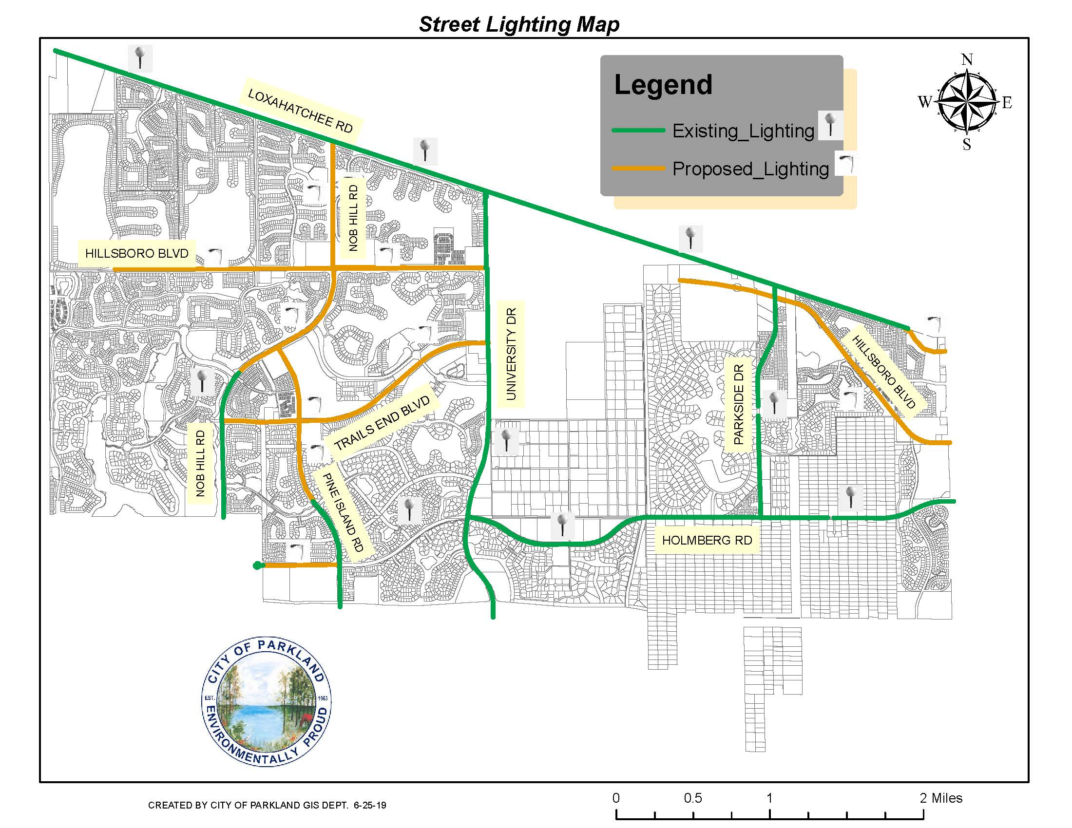 6-25- 2019 Street Lighting Map